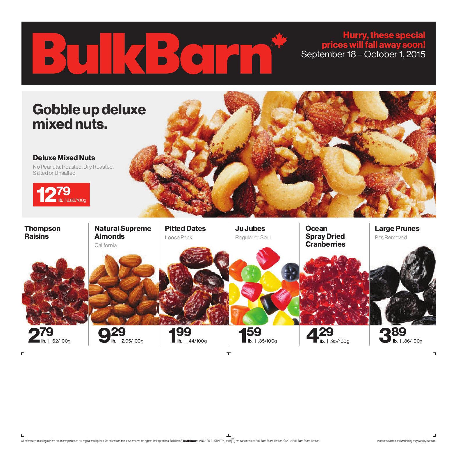 bulk barn weekly flyer 2 week sale sep 18 \u2013 oct 1 redflagdeals com