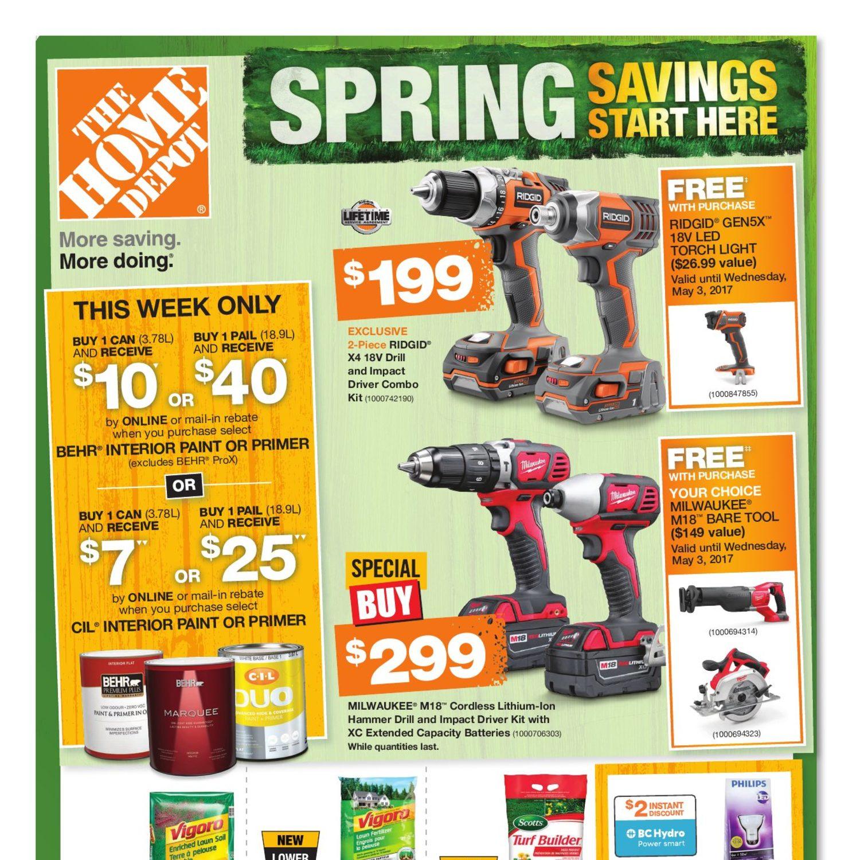 Home Depot Weekly Flyer Weekly Spring Savings Start Here Mar