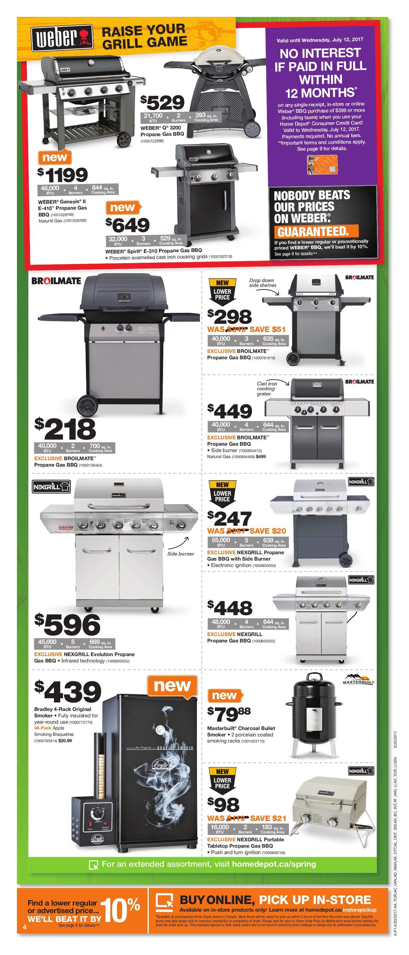 Home Depot Weekly Flyer Weekly Spring Savings Start Here Apr