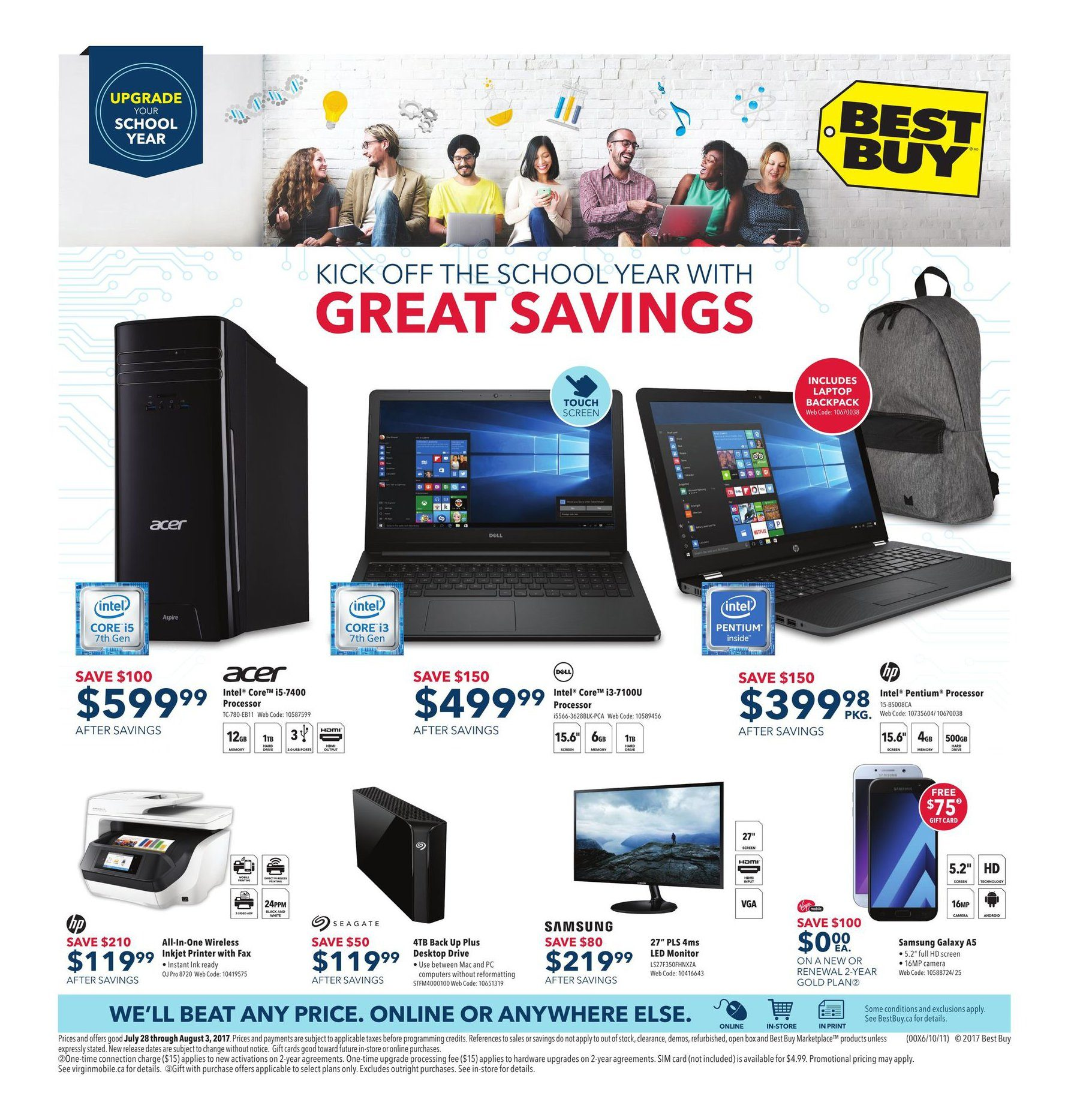 Best buy weekly flyer weekly kick off the school year with great best buy weekly flyer weekly kick off the school year with great savings jul 28 aug 3 redflagdeals fandeluxe Image collections