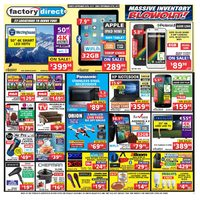 Factory Direct - Weekly - Massive Inventory Blowout! Flyer
