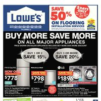 Lowe's - Weekly - Buy More Save More on All Major Appliances Flyer