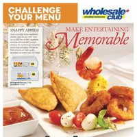 Wholesale Club - Challenge Your Menu - Make Entertaining Memorable Flyer