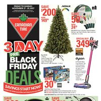 Canadian Tire - 3 Day - Pre-Black Friday Deals Flyer