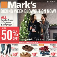 Mark's - Boxing Week Blowout on Now! Flyer