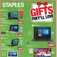 Staples - Weekly - Gifts They'll Love Flyer