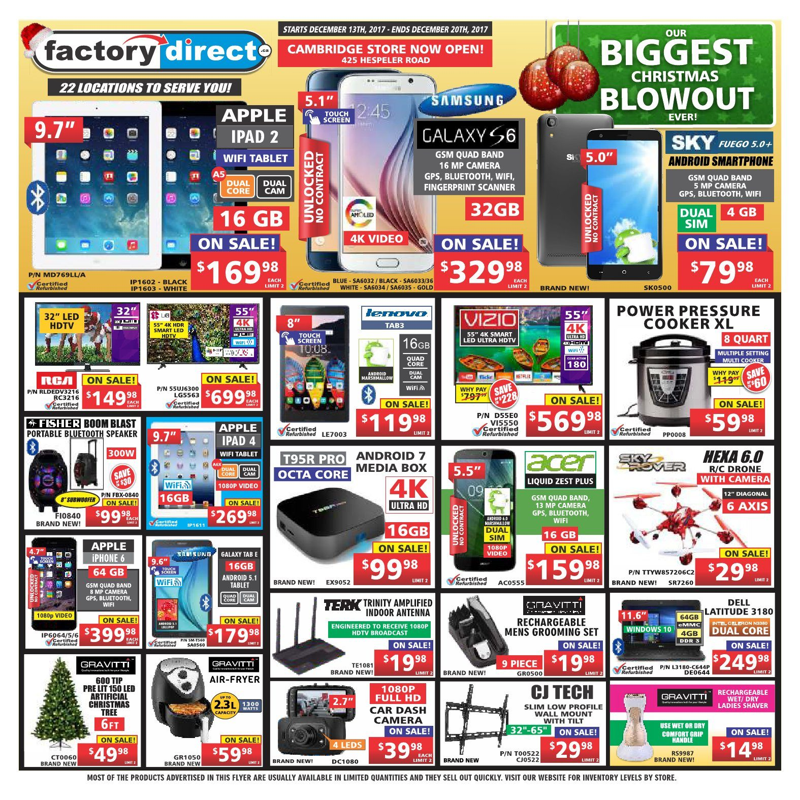 Factory Direct Weekly Flyer - Weekly - Our Biggest Christmas