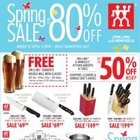 Zwilling J.A. Henckels - Spring Sale - Up to 80% Off Flyer