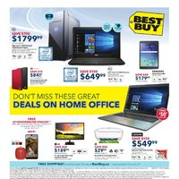 Best Buy - Weekly - Deals On Home Office Flyer
