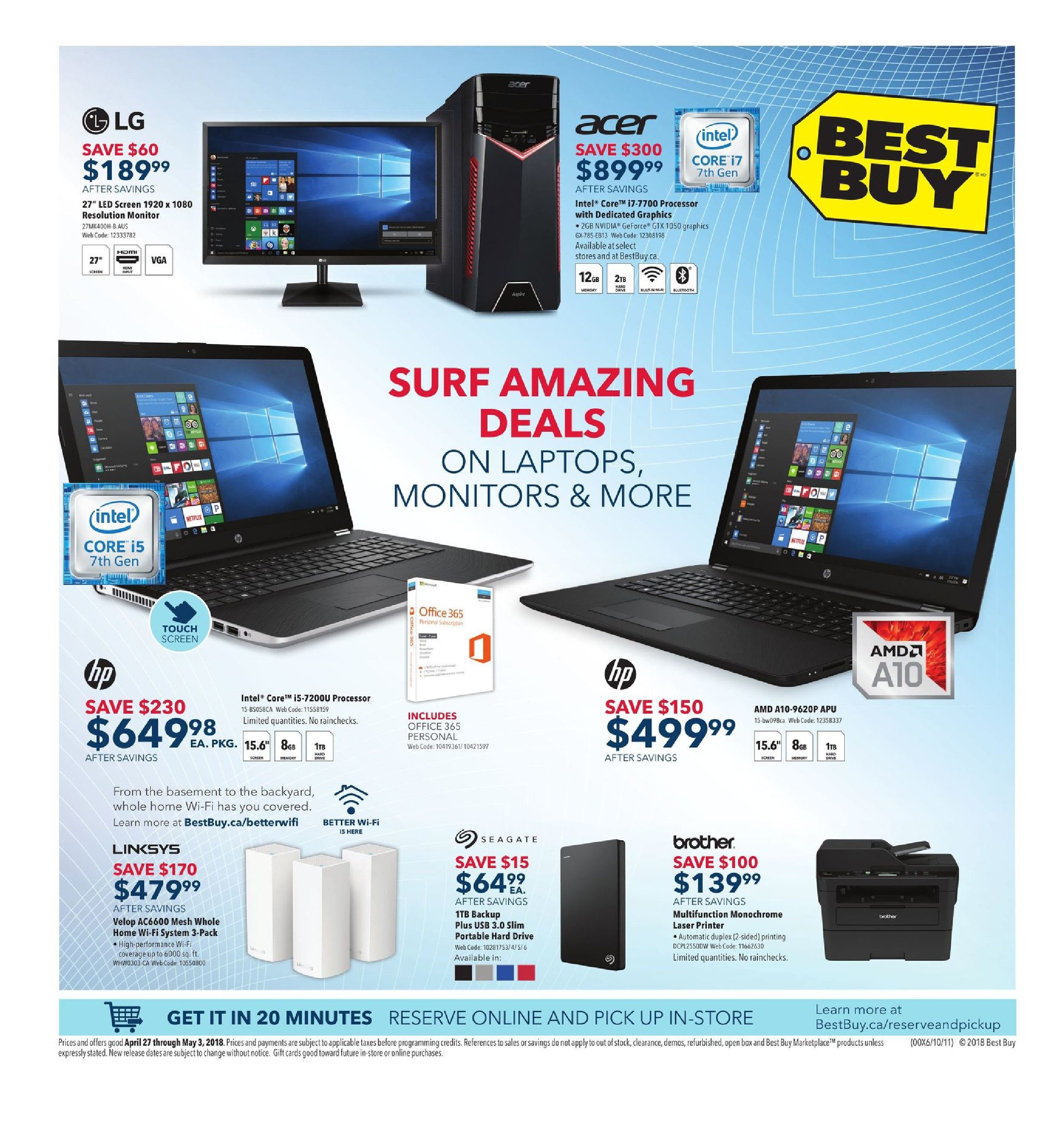 Best Buy Weekly Flyer - Weekly - Surf Amazing Deals - Apr 27 – May 3 -  RedFlagDeals.com