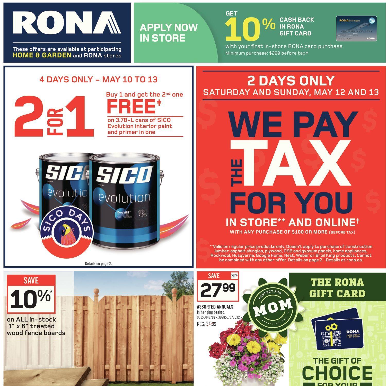 Carte Rona Accord D.Rona Weekly Flyer Weekly Specials May 10 16 Redflagdeals Com