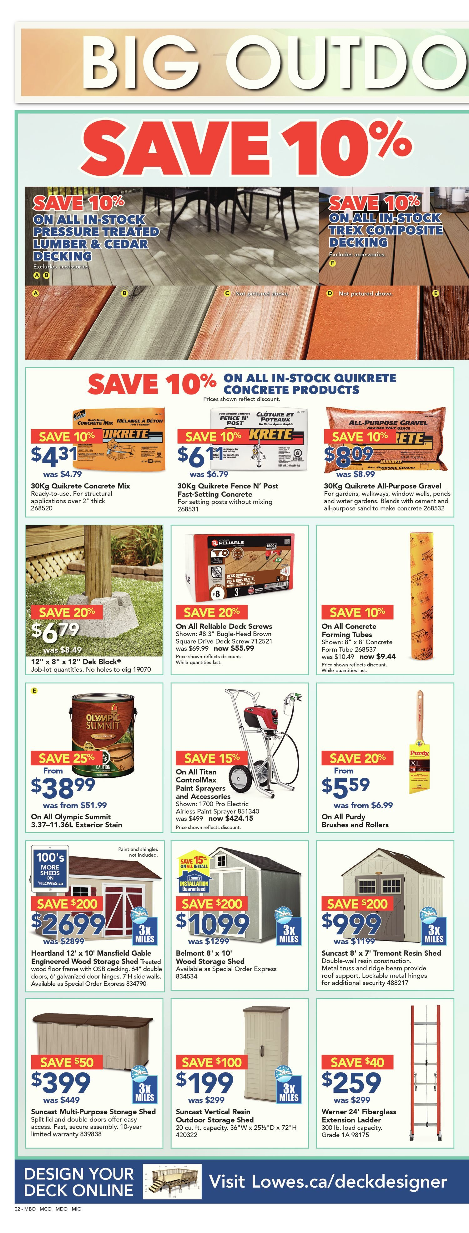 Lowe's Weekly Flyer - Weekly - Big Outdoor Event - May 24