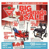 Canadian Tire - 7-Day Event - The Big O Canada Sale Flyer