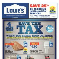 Lowe's - Weekly - Save The Tax Flyer