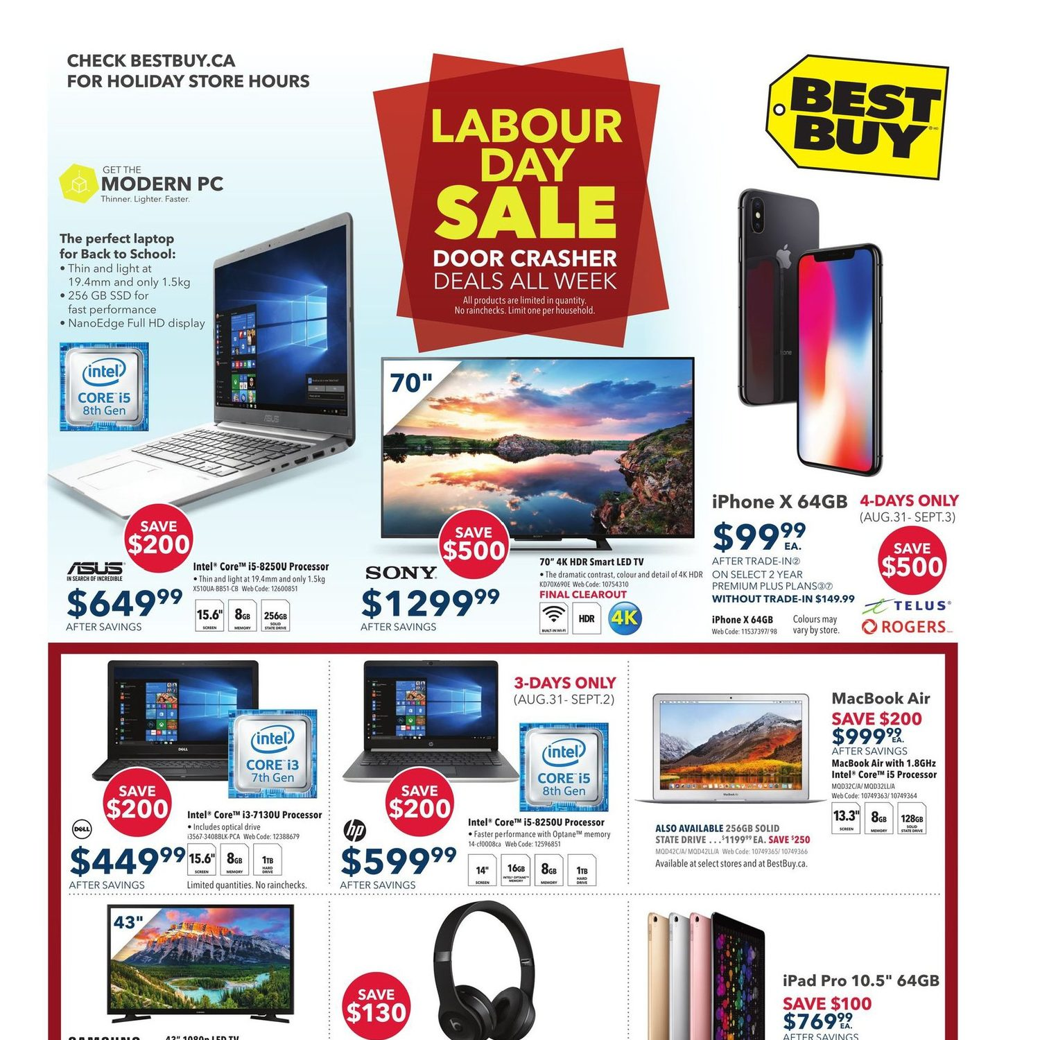 237938628a5 Best Buy Weekly Flyer - Weekly - Labour Day Sale - Aug 31 – Sep 6 -  RedFlagDeals.com