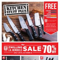 Kitchen Stuff Plus - The ZWilling J.A. Henckels Sale Flyer