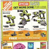 Home Depot - Weekly - Ryobi Days Flyer