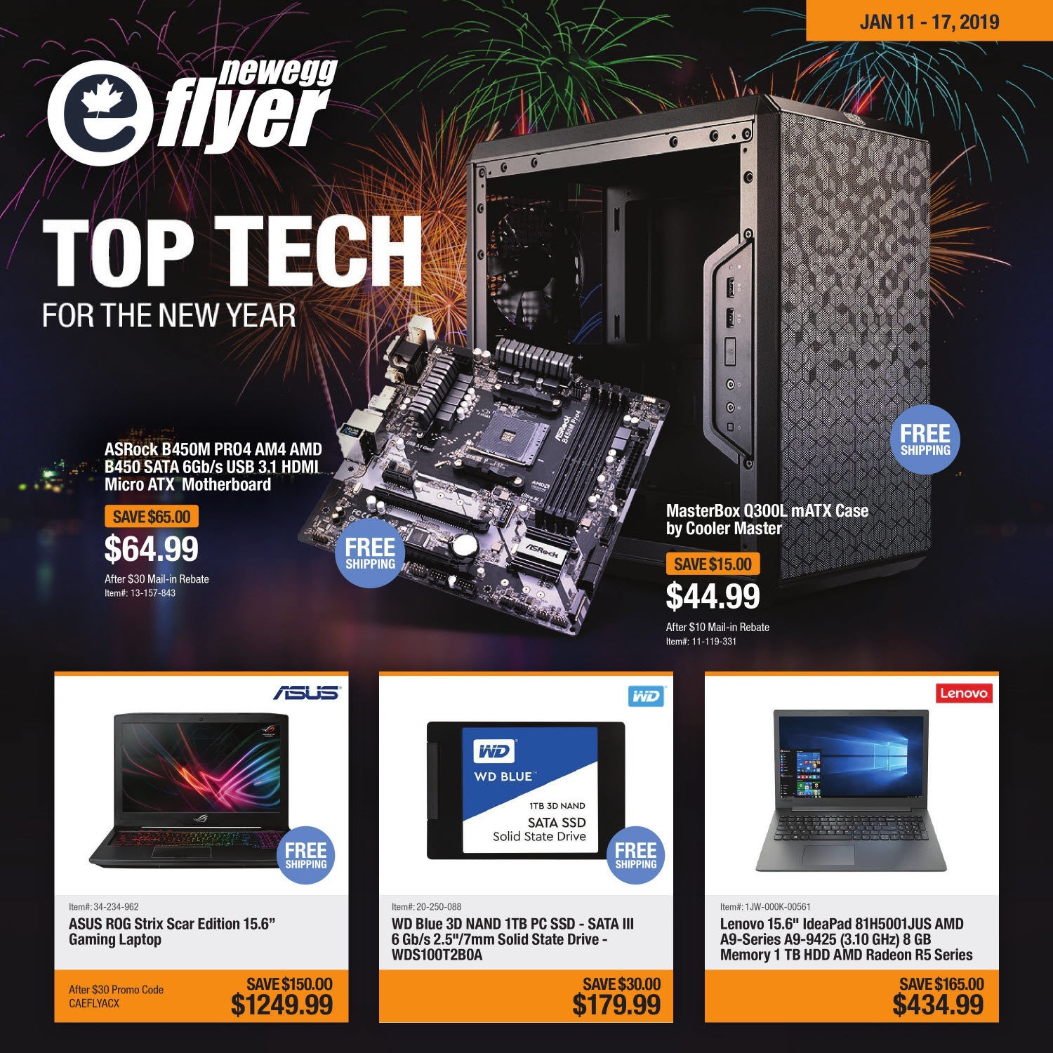 Newegg Weekly Flyer - Top Tech For The New Year - Jan 11