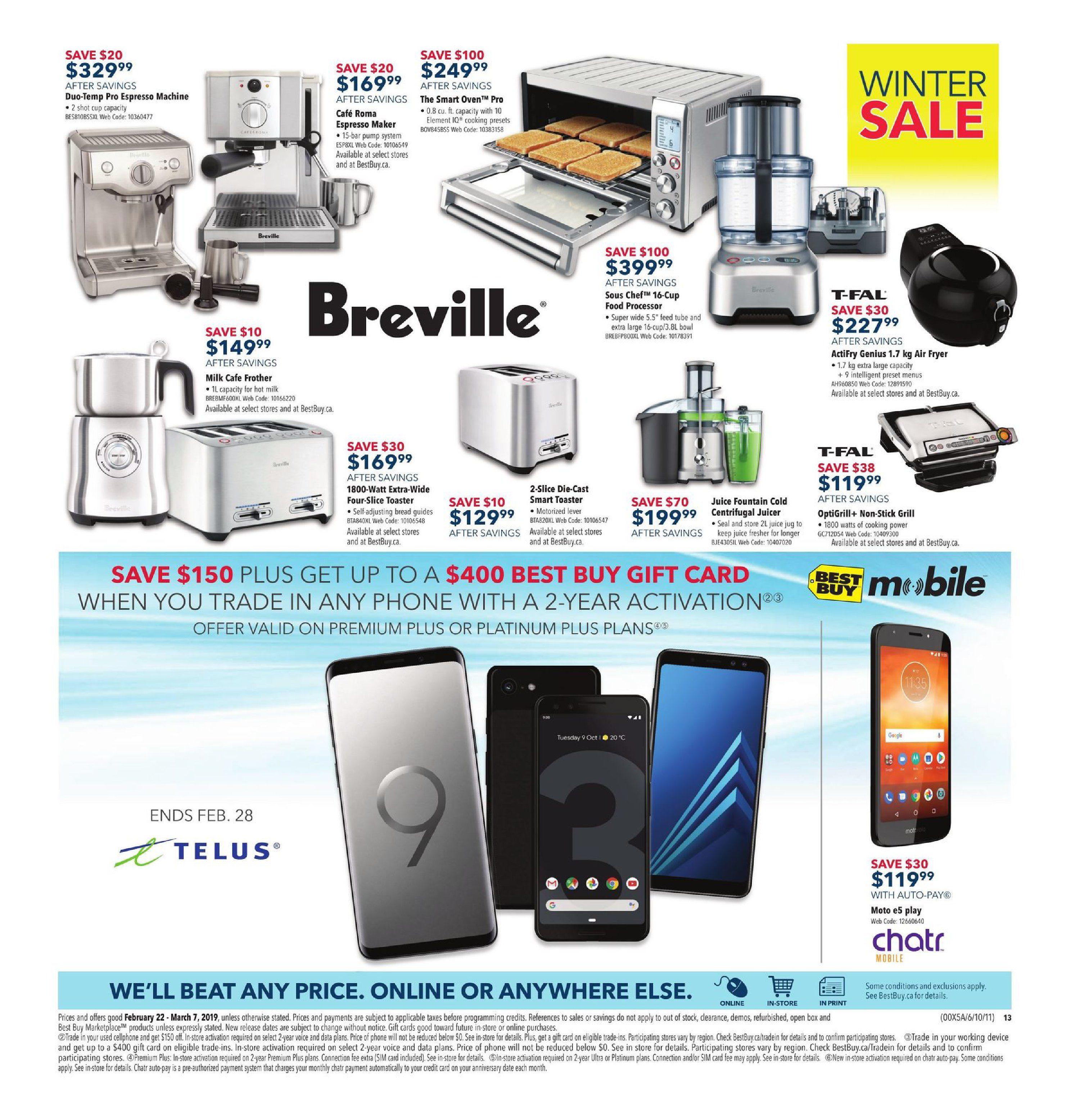 Best Buy Weekly Flyer - 2 Weeks of Savings - Winter Sale - Feb 22