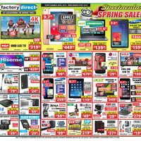 Factory Direct - Spectacular Spring Deals! Flyer