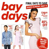 - Final Days To Save - Bay Days Flyer