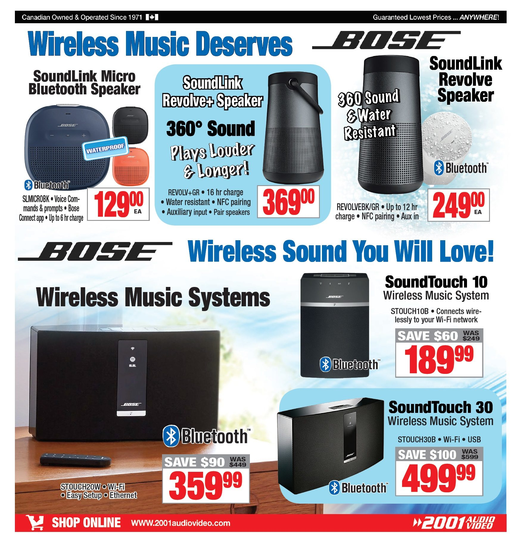 2001 Audio Video Weekly Flyer - Weekly - Inventory Clearance