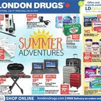 London Drugs - 6 Days of Savings - Summer Adventures Flyer