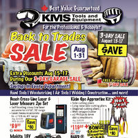 KMS Tools - Back To Trades Sale Flyer