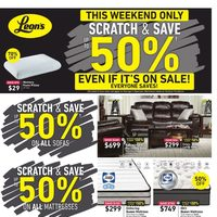 Leon's - Scratch & Save Event Flyer