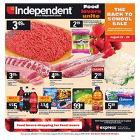Your Independent Grocer - Weekly - The Back To School Sale Flyer