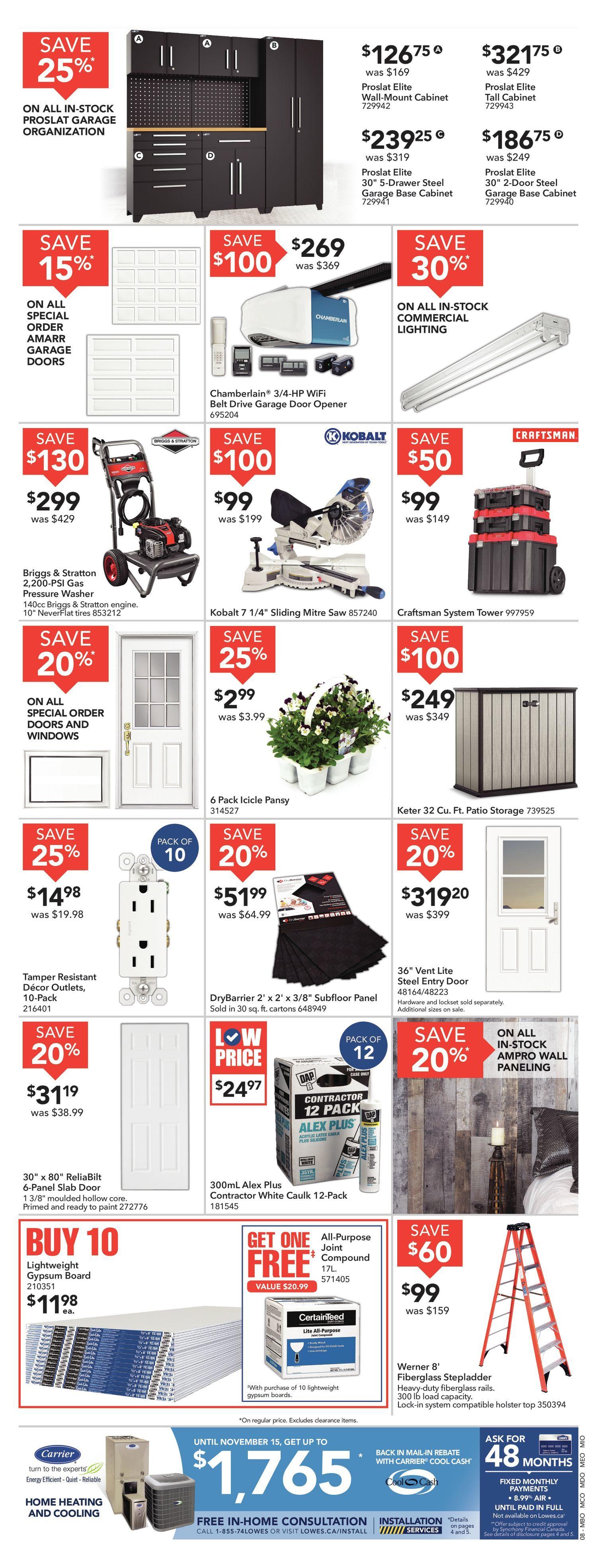 Lowe's Weekly Flyer - Weekly - Buy More Save More - Sep 5