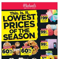 Michaels - Weekly - Lowest Prices of The Season Flyer