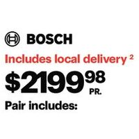 Bosch 2.2 Cu. Ft. Front Load Washer & 4.0 Cu. Ft. Electric Dryer