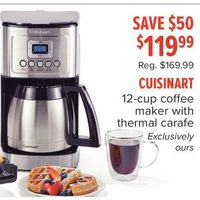 Cuisinart 12-Cup Coffee Maker With Thermal Carafe