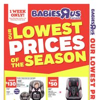 Babies R Us - Weekly - Lowest Prices Of The Season Flyer