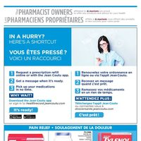 Jean Coutu - The Pharmacist Owners  Flyer