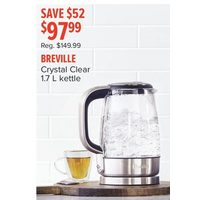 Breville Crystal Clear 1.7 L Kettle