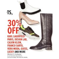 Karl Lagerfeld Paris, Design Lab, Calvin Klein, Framco Sarto, Vero Moda, Guess, Lucky And More Women's Footwear