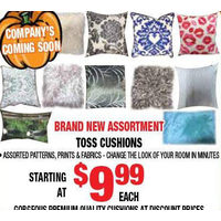 Brand New Assortment Toss Cushions