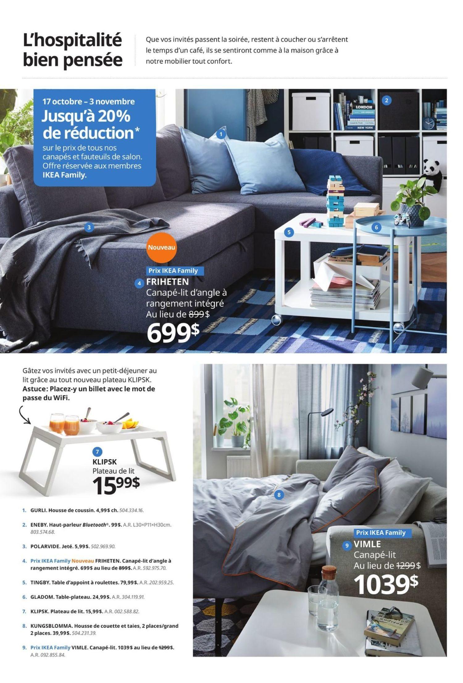Ikea Weekly Flyer Promo Canapés Et Fauteuils Oct 17