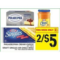 Philadelphia Cream Cheese, Kraft Singles Or Cheez Whiz