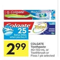 Colgate Toothpaste Or Toothbrush Or Floss