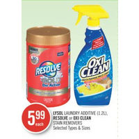 Lysol Laundry Additive, Resolve Or Oxi Clean Stain Removers