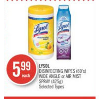 Lysol Disinfecting Wipes Wide Angle Or Air Mist Spray