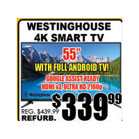 Westinghouse 4K Smart TV 55""