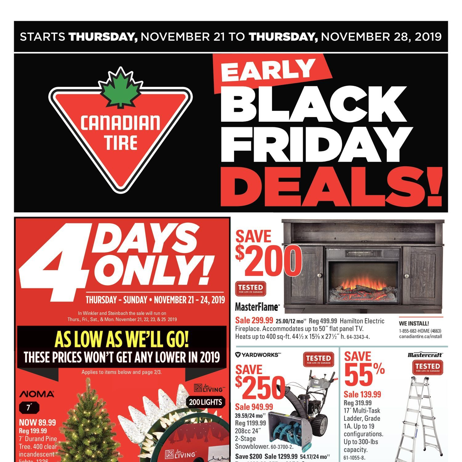 Surprising Canadian Tire Weekly Flyer 8 Days Of Savings Early Black Machost Co Dining Chair Design Ideas Machostcouk