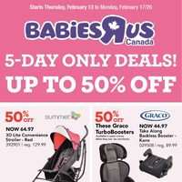 Babies R Us - 5-Day Only Deals! Flyer