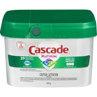 Cascade, Finish Dish Detergent Tabs, Gain, Cheer Laundry Detergent, Gain, Downy Fabric Softener or Beads