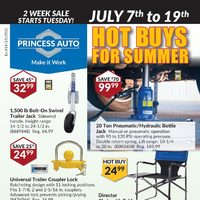 Princess Auto - 2 Week Sale - Hot Buys For Summer Flyer