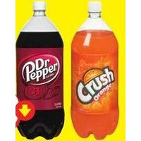 Crush, Dr. Pepper or Mountain Dew Soft Drinks